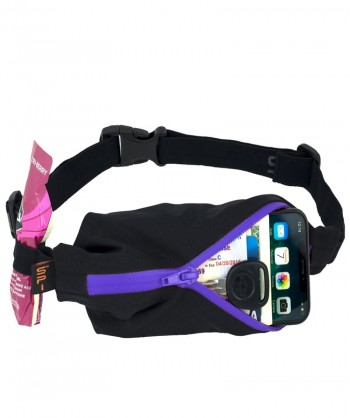 SPIBELT LARGE RAIN RESISTANTS BLACK/PURPLE